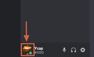 Cómo poner un estado en línea en Discord paso 2