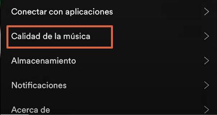 Cómo reducir el consumo de datos en Spotify paso 2
