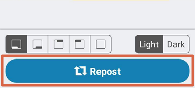 Cómo repostear en Instagram con Reposter paso 6
