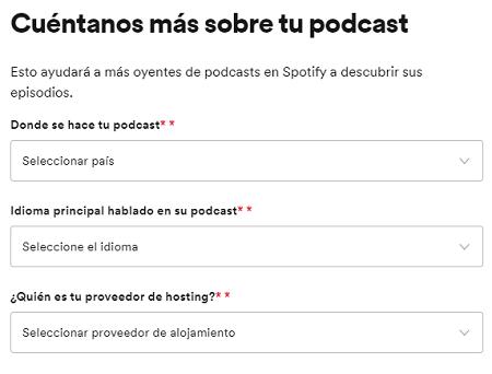 Cómo subir podcast a Spotify paso 6