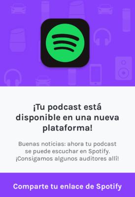 Cómo subir un podcast a Spotify desde Anchor paso 10