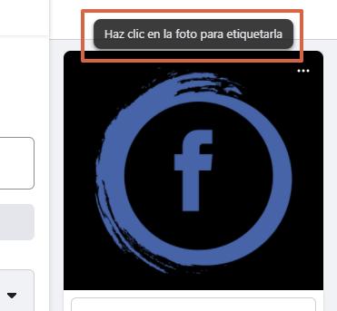 Cómo etiquetar personas o páginas en Facebook albumes de fotos paso 4.