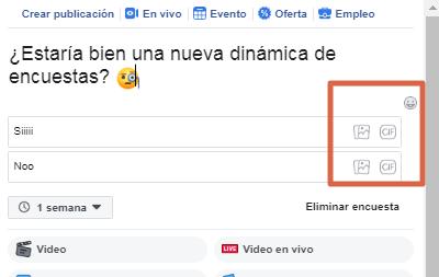 Crear una encuesta en página de Facebook paso 7