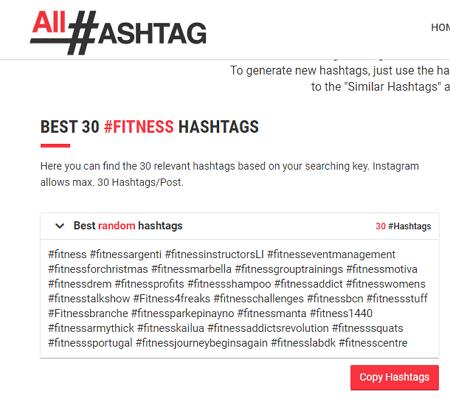Descubrir tendencia con All-hashtag