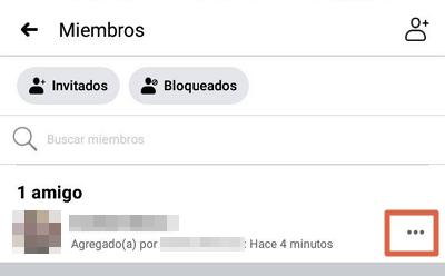 Eliminar grupo de Facebook desde el móvil paso 3