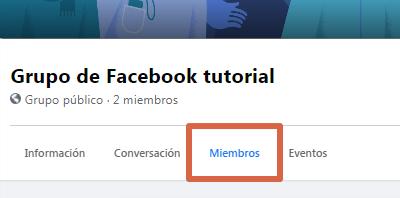 Eliminar grupo nueva versión de Facebook paso 2