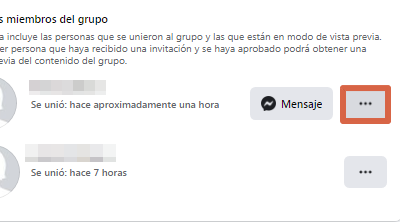 Eliminar grupo nueva versión de Facebook paso 3