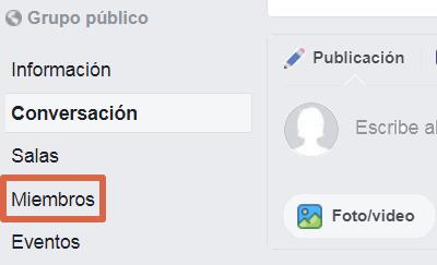 Eliminar un grupo de Facebook versión clásica paso 2