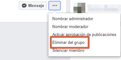 Eliminar un grupo de Facebook versión clásica paso 4