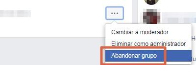 Eliminar un grupo de Facebook versión clásica paso 7