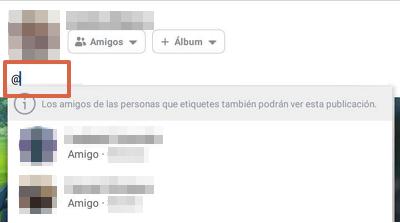 Etiquetar álbum de fotos Facebook app paso 8