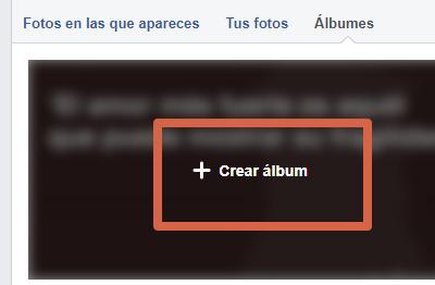 Etiquetar álbum de fotos sin publicar paso 1