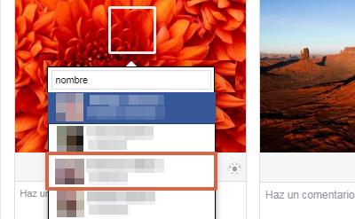 Etiquetar álbum de fotos sin publicar paso 5