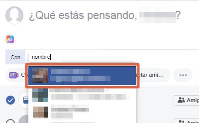 Etiquetar persona o página en publicaciones, comentarios o respuestas en Facebook paso 5