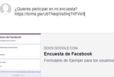 Hacer una encuesta con Formularios de Google para compartir en Facebook paso 9