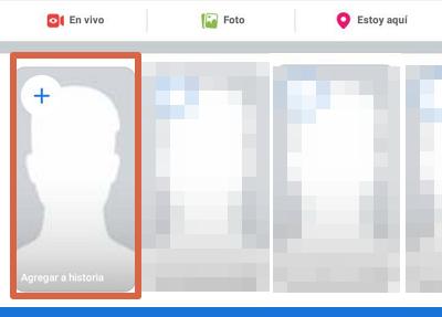 Hacer una encuesta en las historias de Facebook paso 1