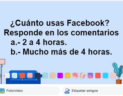 Hacer una encuesta en tu muro de Facebook paso 4