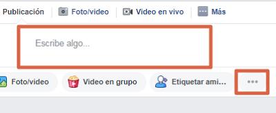 Hacer una encuesta en un grupo de Facebook paso 1