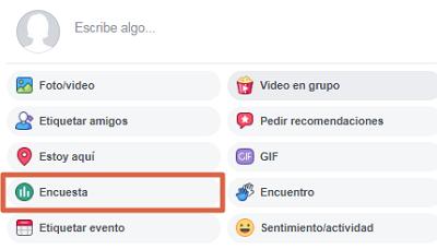 Hacer una encuesta en un grupo de Facebook paso 2
