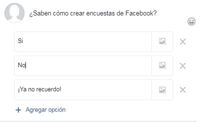 Hacer una encuesta en un grupo de Facebook paso 3