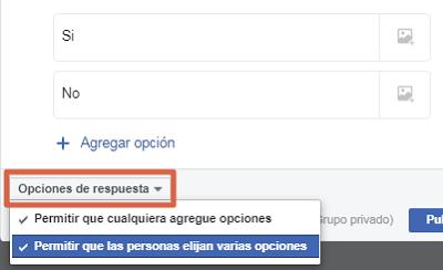 Hacer una encuesta en un grupo de Facebook paso 7