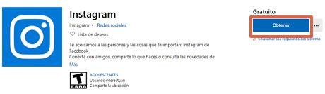 Instalar Instagram en Windows 10 paso 2