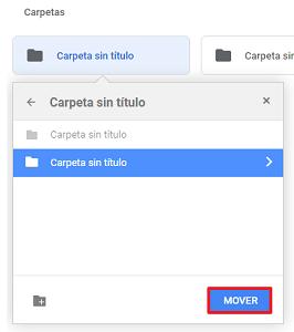 Mover archivos a una carpeta desde el navegador paso 3