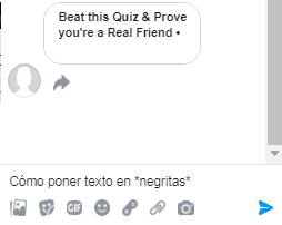 Poner texto en negritas en Facebok Messenger paso 1