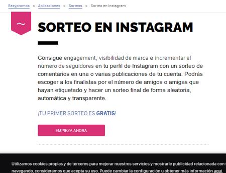 Realizar sorteos en Instagram con Easypromos