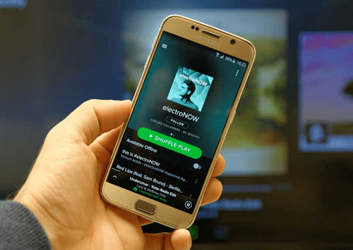 Reproducción de canciones en Spotify