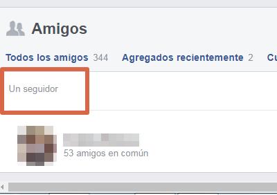 Saber quién te sigue en Facebook paso 5