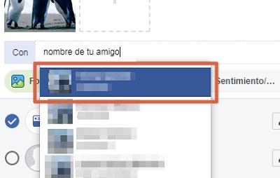 Subir y etiquetar foto en Facebook paso 5