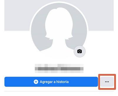 Ver tu perfil como si fueses otra persona Facebook app paso 1