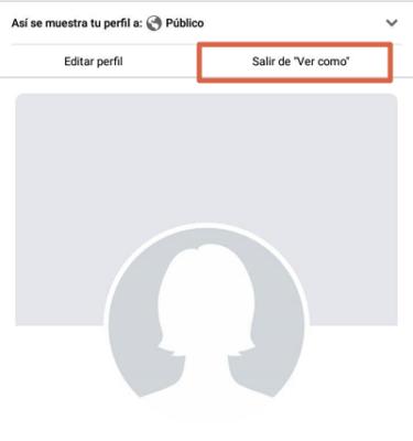Ver tu perfil como si fueses otra persona Facebook app paso 3