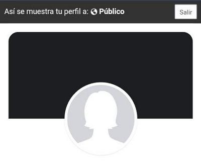 Ver tu perfil como si fueses otra persona en Facebook desde el navegador en tu móvil paso 4