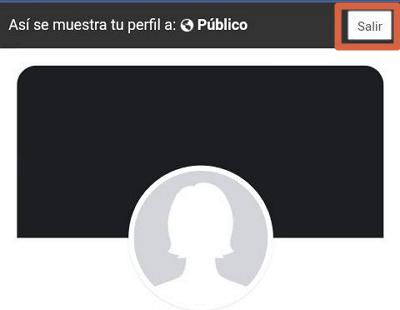 Ver tu perfil como si fueses otra persona en Facebook desde el navegador en tu móvil paso 5