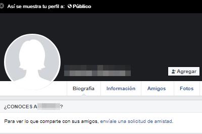 Ver tu perfil como si fueses otra persona versión clásica de Facebook paso 4