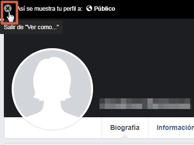 Ver tu perfil como si fueses otra persona versión clásica de Facebook paso 5