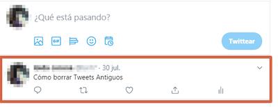 Cómo borrar Tweets antiguos manualmente paso 1