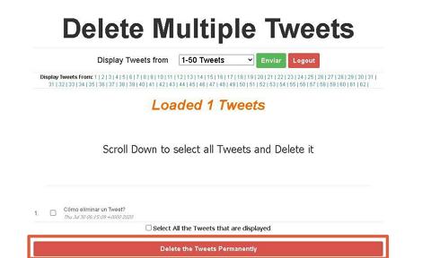 Cómo borrar tweets antiguos con Delete Multiple Tweets