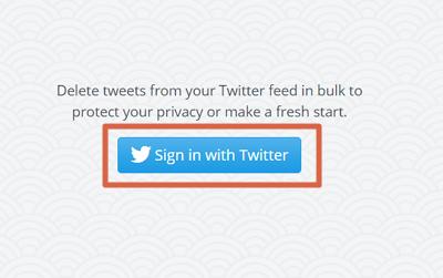 Cómo borrar tweets antiguos con TweetDelete paso 1