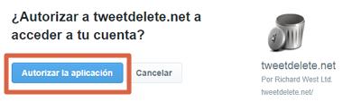 Cómo borrar tweets antiguos con TweetDelete paso 2