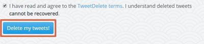 Cómo borrar tweets antiguos con TweetDelete paso 4