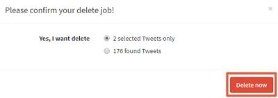 Cómo borrar tweets antiguos con TweetEraser paso 5