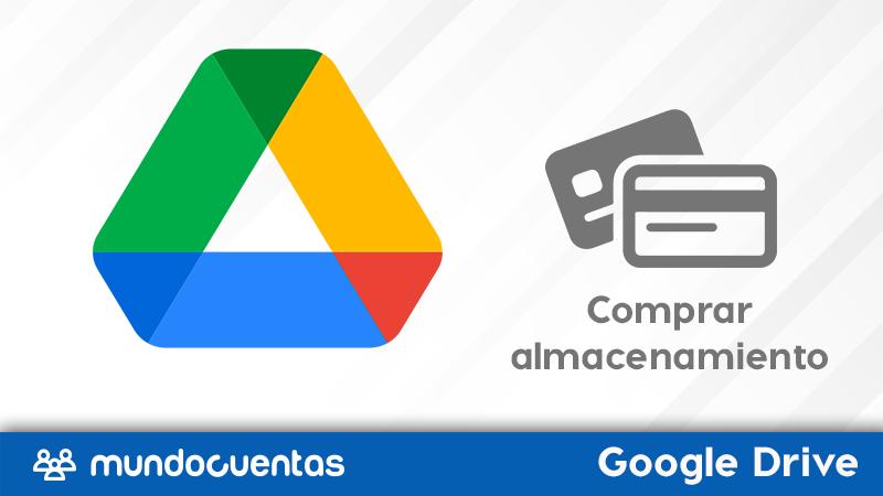 Cómo comprar almacenamiento en Google Drive.