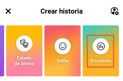 Cómo hacer una encuesta en Facebook a través de las historias y desde la app paso 3