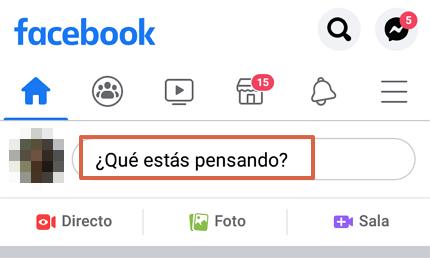 Cómo hacer una encuesta en Facebook desde la app y en el muro paso 1