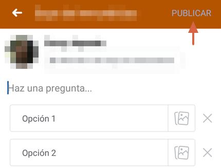 Cómo hacer una encuesta en Facebook desde la app y en un grupo paso 6