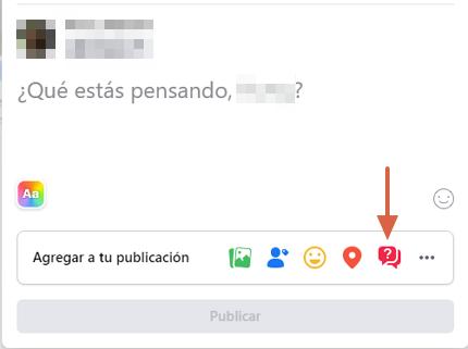 Cómo hacer una encuesta en Facebook desde la computadora y en el muro paso 2