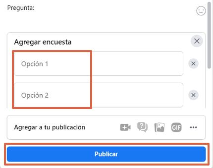 Cómo hacer una encuesta en Facebook desde la computadora y en un grupo paso 4